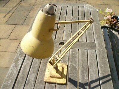 """Vintage Herbert Terry & Sons industrial """"The Angle poise"""" lamp for restoration"""