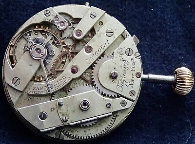 TIFFANY & CO New York & Geneva Wolf Tooth Hunter Pocket Watch Movement c1900