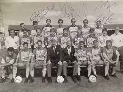 Autographed MANSFIELD TOWN FOOTBALL CLUB TEAM PHOTO PRESS Photo