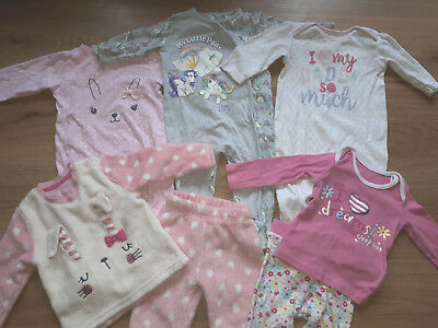 Baby Girl Sleepsuits/Pj's **6-9 months**My Little Pony/Bunny