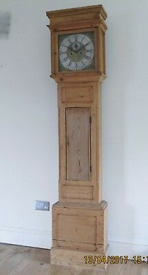 Heron Newtown 8 Day Pine Cased Grandfather Longcased Clock