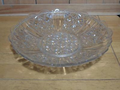 Fruit Bowl cut glass vintage FREE UK P & P