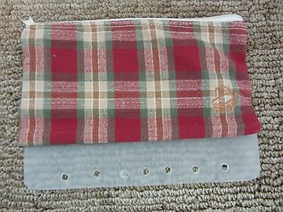 Longaberger ORCHARD PARK PLAID Zippered Binder Pencil Pouch Bag