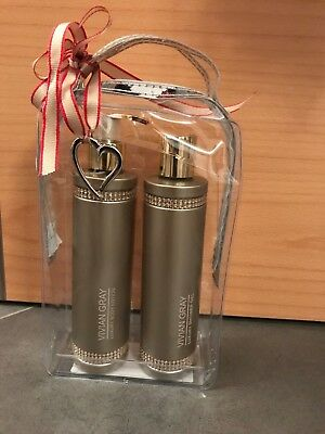 VIVIAN GRAY Set Brown Crystals Body Lotion & Duschgel NEU, OVP