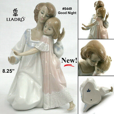 """NEW Retired Lladro 5449 """"Good Night"""" Mother and Daughter w/ Original Box"""