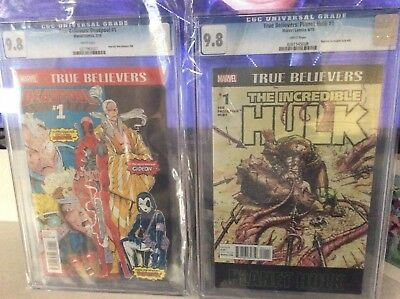 Deadpool #1 and Planet Hulk#1 cgc 9.8 true believers