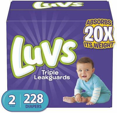 Luvs Ultra Leakguards Disposble Diapers, Size 2, 228 Count, ONE Month Supply