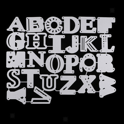 Alphabet Letters Die-Cutting & Embossing Stencil for DIY Scrapbooking
