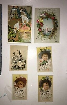 5 Early 1900's Victorian Trade Cards