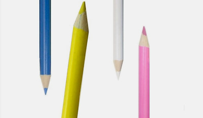 Dressmaking Chalk Pencils -  White Yellow Pink Blue Pencils
