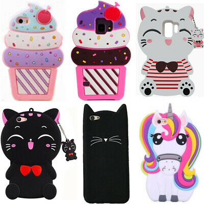 For Samsung Galaxy S7 S8 S9+ Phone Case Cute Animals Cartoon Silicone Soft Cover