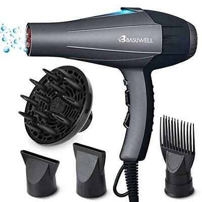 Basuwell Sèche Cheveux Professionnel 2100W Ionique/Infrarouge Lointain Sal ...