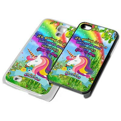UNICORN custom name PERSONALISED Phone Cover for iPhone Samsung 4 5 6 7 6th case