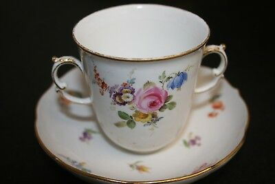 18thC Meissen Porcelain  Hot Chocolate Cup & Saucer