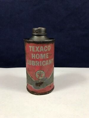 Small Vintage TEXACO Home Lubricant Can