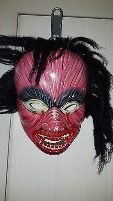 Vintage Japanese Noh Theatre Mask Of A Demon