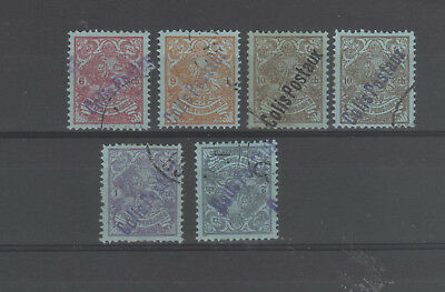 Central Asin Country Formerly run by a Shah.6 stamps oprinted 'COLIS POSTAUX'