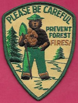 US USFS Forest Service NEW 1976 Please Be Careful Smokey The Bear Cloth Patch