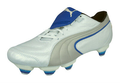 Puma King Exec SG Mens Leather Soccer Cleats   Football Shoes - White 228225db4