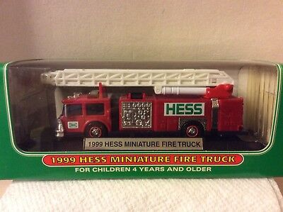 1999 Hess Miniature Fire Truck New In Box