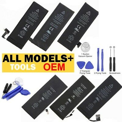 for iPhone 4 4S 5 5C 5S 6 6S 7 Plus +Tools Kit OEM Replacement Internal Battery