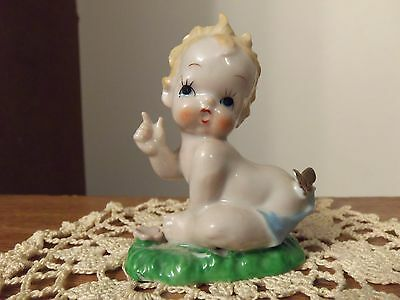 Baby and Butterfly Figurine-VTG-EUC