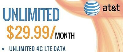 AT&T Unlimited 4G LTE Data for Tablets Only - No Contract No Credit Check
