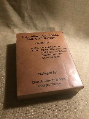 WWII US Army Air Force bail out ration D-Bar Box