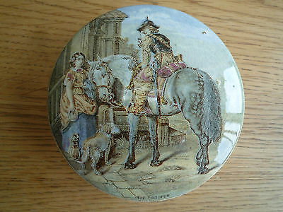 Antique Victorian Prattware Pot Lid - The Trooper