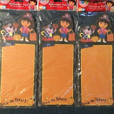 3 Halloween Magnetic Note Grocery Pad DORA the Explorer Pirate Nickelodeon