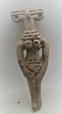 Circa 1100-780Bc Ancient Syro-Hittite Terracotta Fertility Figure Rare