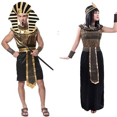 """""""Two Costumes"""" Couple Adult Pharaoh Egyptian Pyramid King Ancient Egypt Robe"""