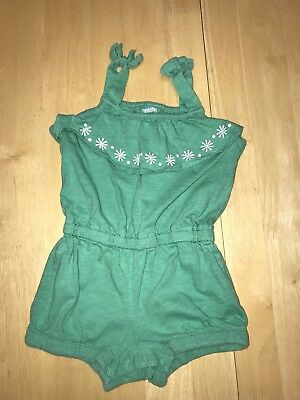 GYMBOREE Girls 2t Spearmint Hop N Roll One Piece Romper