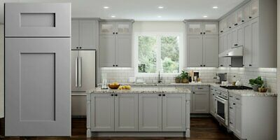 ALL WOOD RTA 10X10 Transitional Shaker Kitchen Cabinets in ...