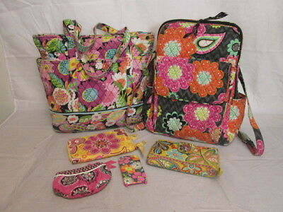 Vera Bradley Mixed Lot of 6 Purses/Backpack/Wallets...Various Styles & Designs