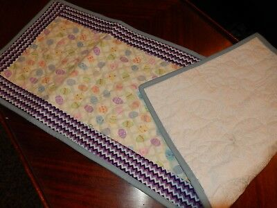 Table runner quilted made with Longaberger Easter egg fabric