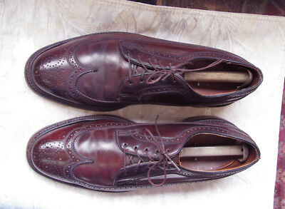 Florsheim Vintage Shell Cordovan Longwing Gunboats 9.5D