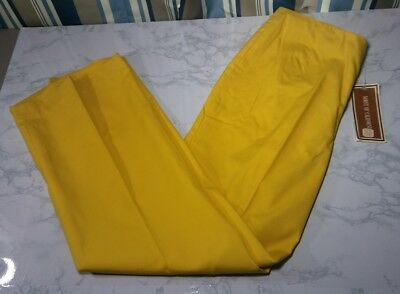 Vintage Koret of California Pants Womens Size 30x27.5 Yellow Side Zipper Creased