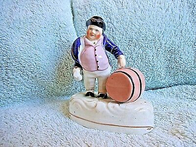 Antique Staffordshire figure man with barrel early 19th century for repair