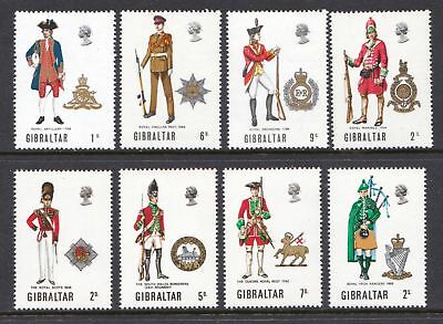 Gibraltar 1969 - 1970 Military Uniforms - Two MNH Sets - Cat £3.30 - (4)