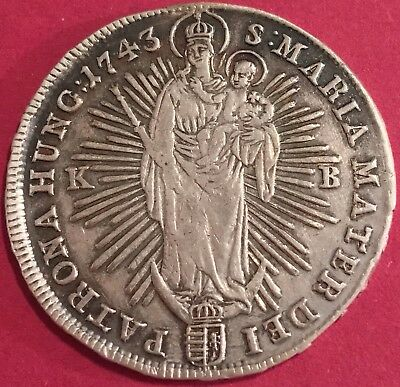 Österreich 1/2 Thaler Taler Austria Hungary 1743 KB Maria Theresia AUT 199