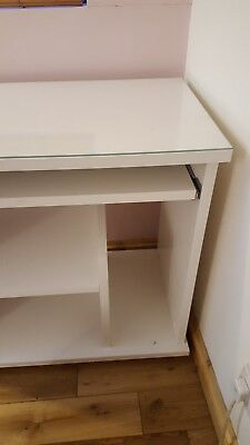 Computer Workstation Laptop Table PC Desk Table w/ Wheels from IKEA