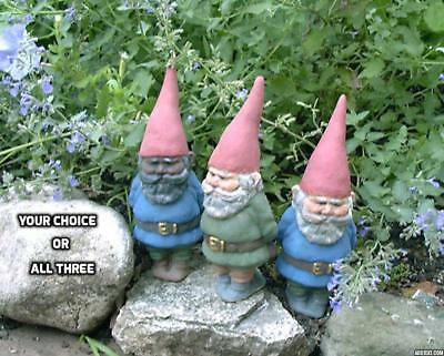 Stoneware Pottery Wilfred The Gnome Kimmel Collectable Garden Yard Patio Mantel