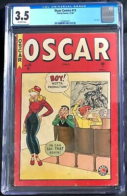 Cgc 3.5 Oscar Comics #13 (Timely,1949) Last Issue!! Golden Age ~