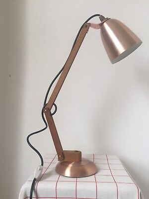 Vtg 60s Maclamp Terence Conran Habitat angle copper wooden arms original switch