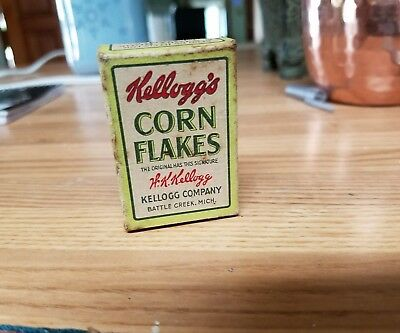 Antique Miniature Kellogg's Corn Flakes Box Rare Circa 1910 To 1920 Advertising