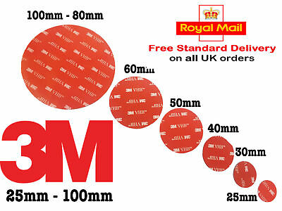 50/60/70mm  Double Sided Sticky Pads Dash Cams/DIY Extra Strong Heavy Duty Cheap