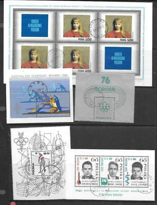 POLAND - 10 x Miniature Sheets/Sheetlets - Used (CTO)  1970s/80s Period