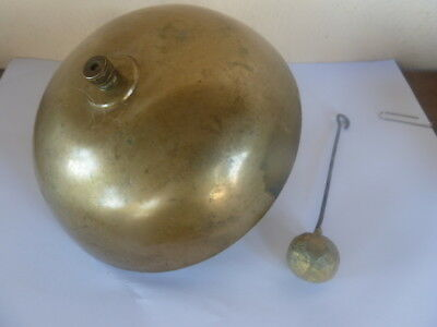 large gong / bell pendulum clock movement brass french antique