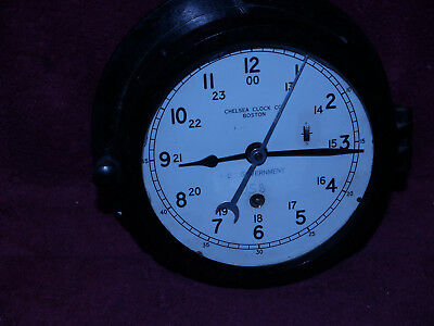 Chelsea U.s.government Naval Clock  6 Inch